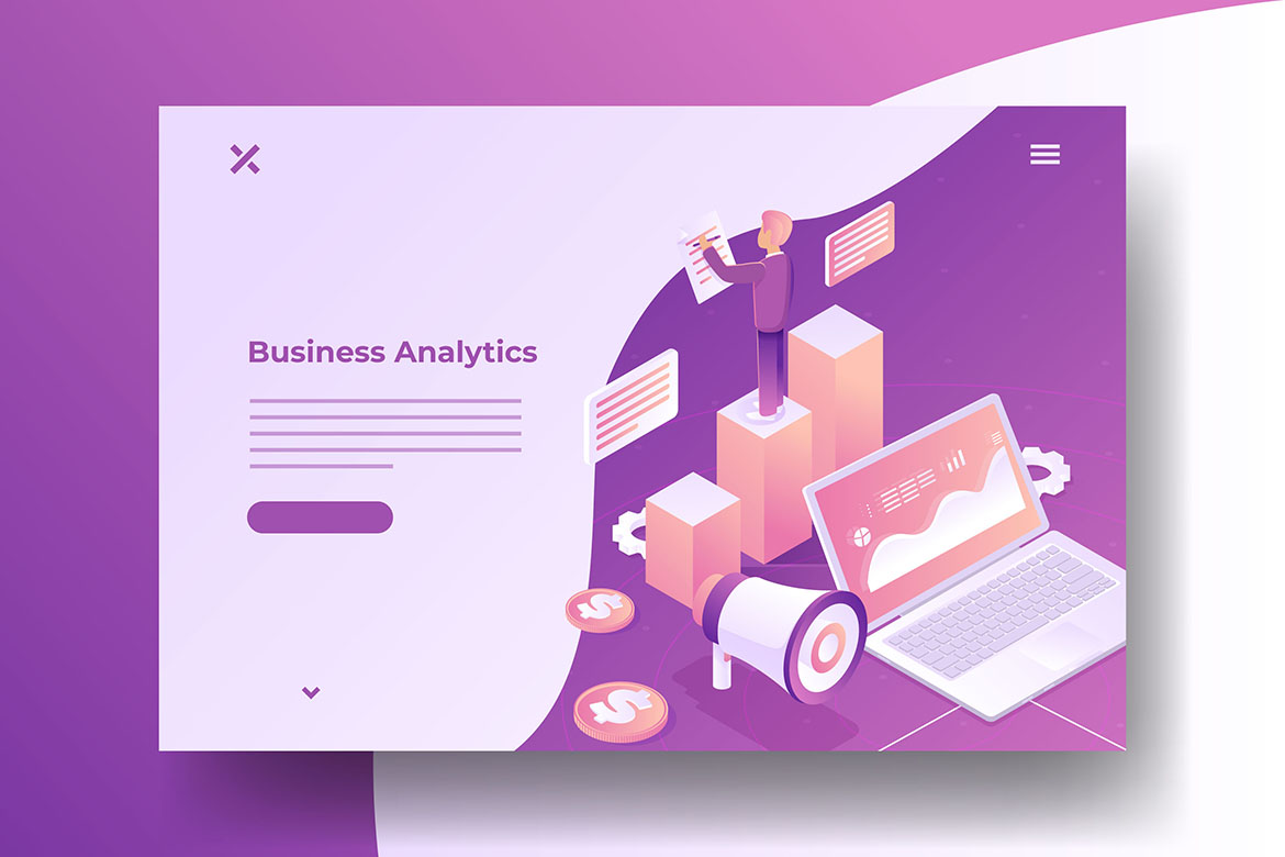 isometric business illustrations