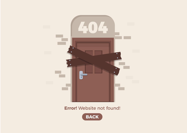 404 web page design