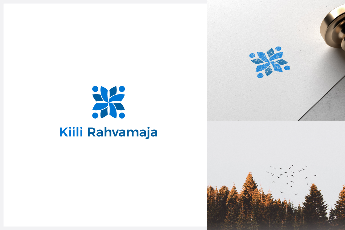 blue modern logo design